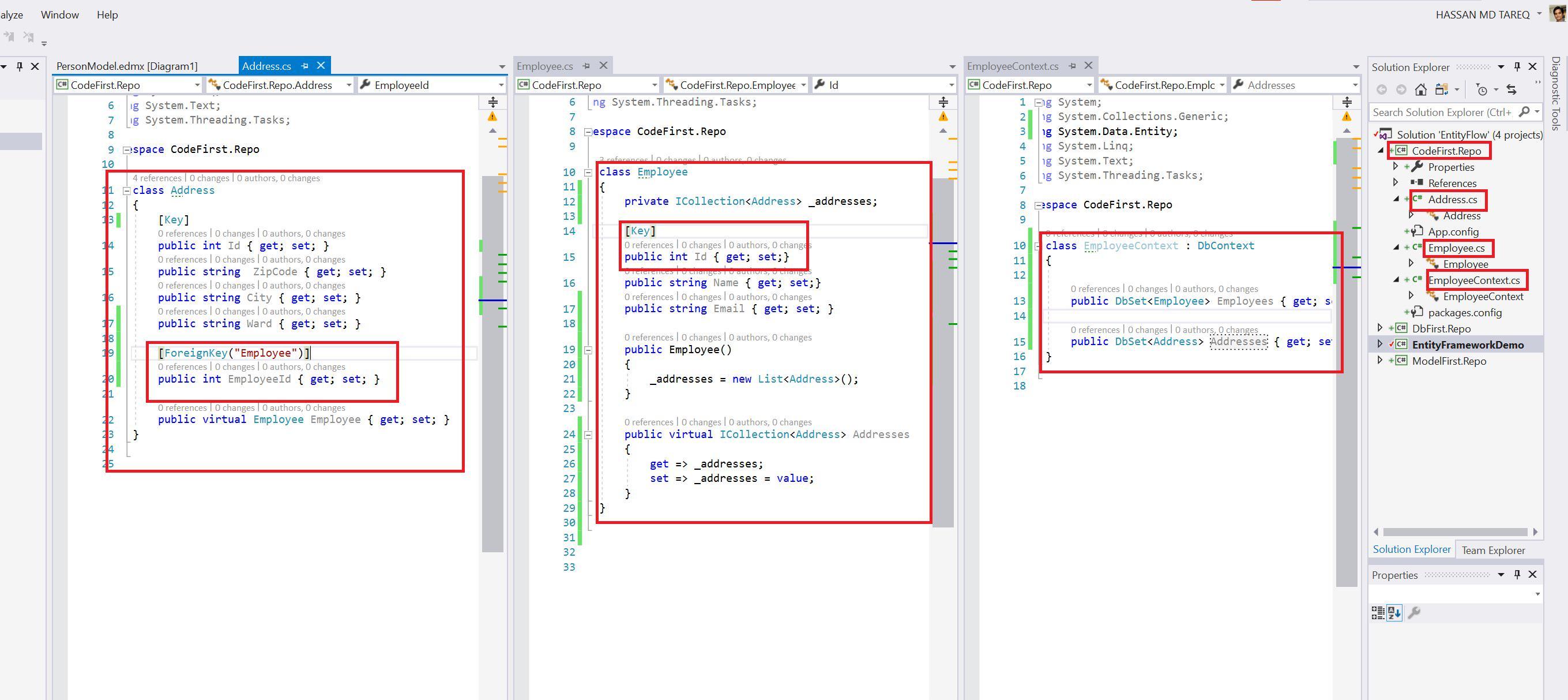 Entity Framework Code Fisrt Approach - Creating edmx from DbContext Step 7